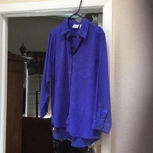 Chico's Royal Blue faux suede shirt